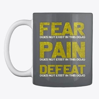FEAR DOES NOT EXIST IN THIS DOJO (Cobra Kai / Karate Kid) Ceramic Coffee Mug Cup [CHOOSE COLOR]