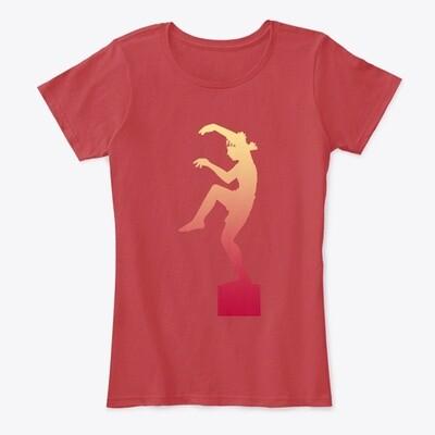 Karate Kid Crane Kick (Cobra Kai) Women's Comfort T-Shirt [CHOOSE COLOR] [COLOR SIZE]