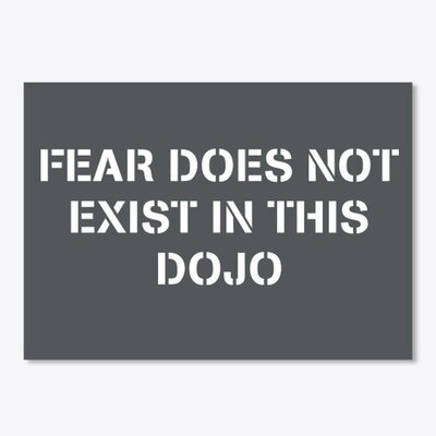 FEAR DOES NOT EXIST IN THIS DOJO (Cobra Kai / Karate Kid) Sticker [CHOOSE COLOR] 5 x 7 INCHES