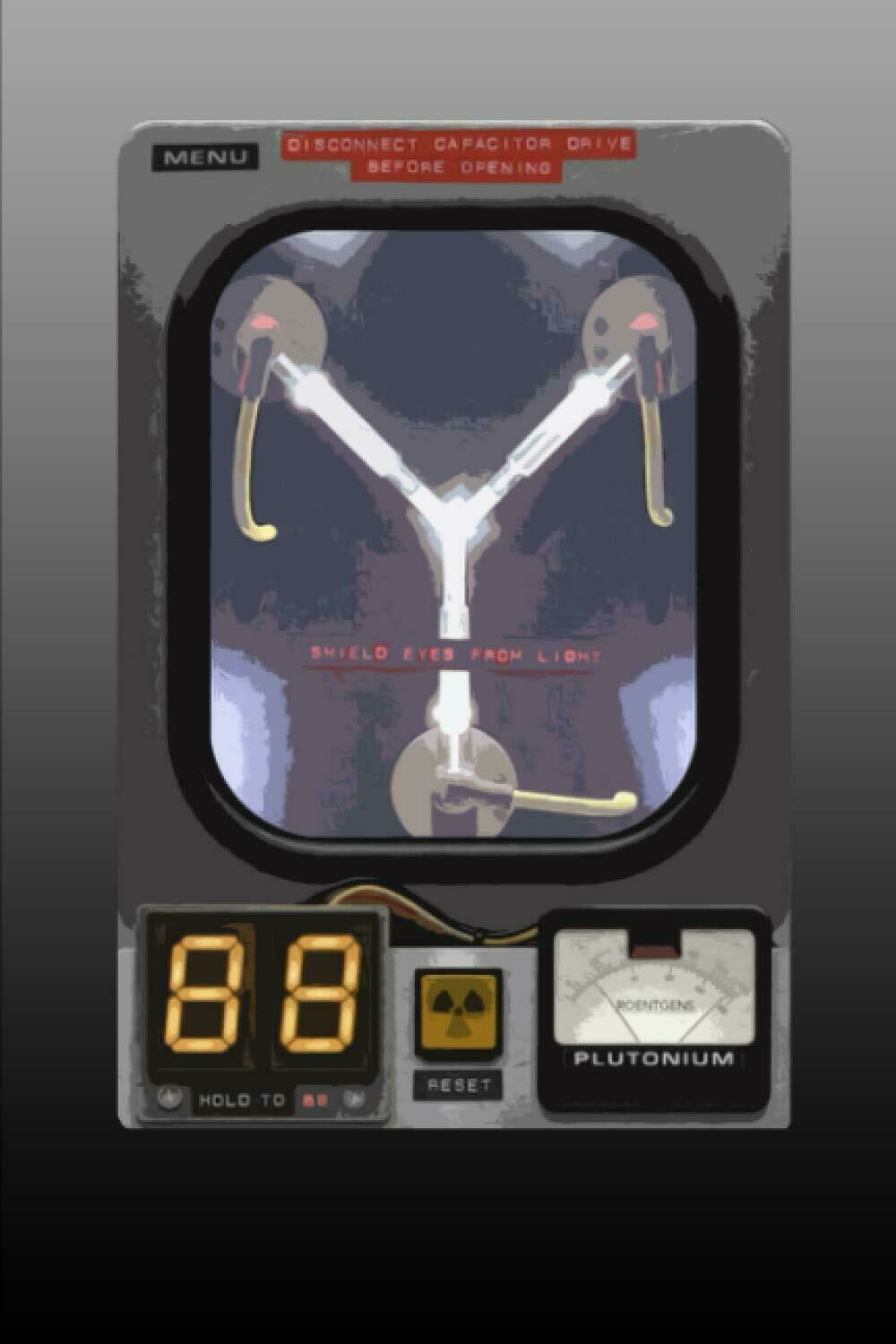 FLUX CAPACITOR (Back to the Future) Luxury Lined Notebook - Notepad Diary Journal Movie Prop