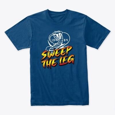 Sweep the Leg 1984 [Cobra Kai / Karate Kid] Men's Premium Cotton T-Shirt [CHOOSE COLOR] [CHOOSE SIZE]