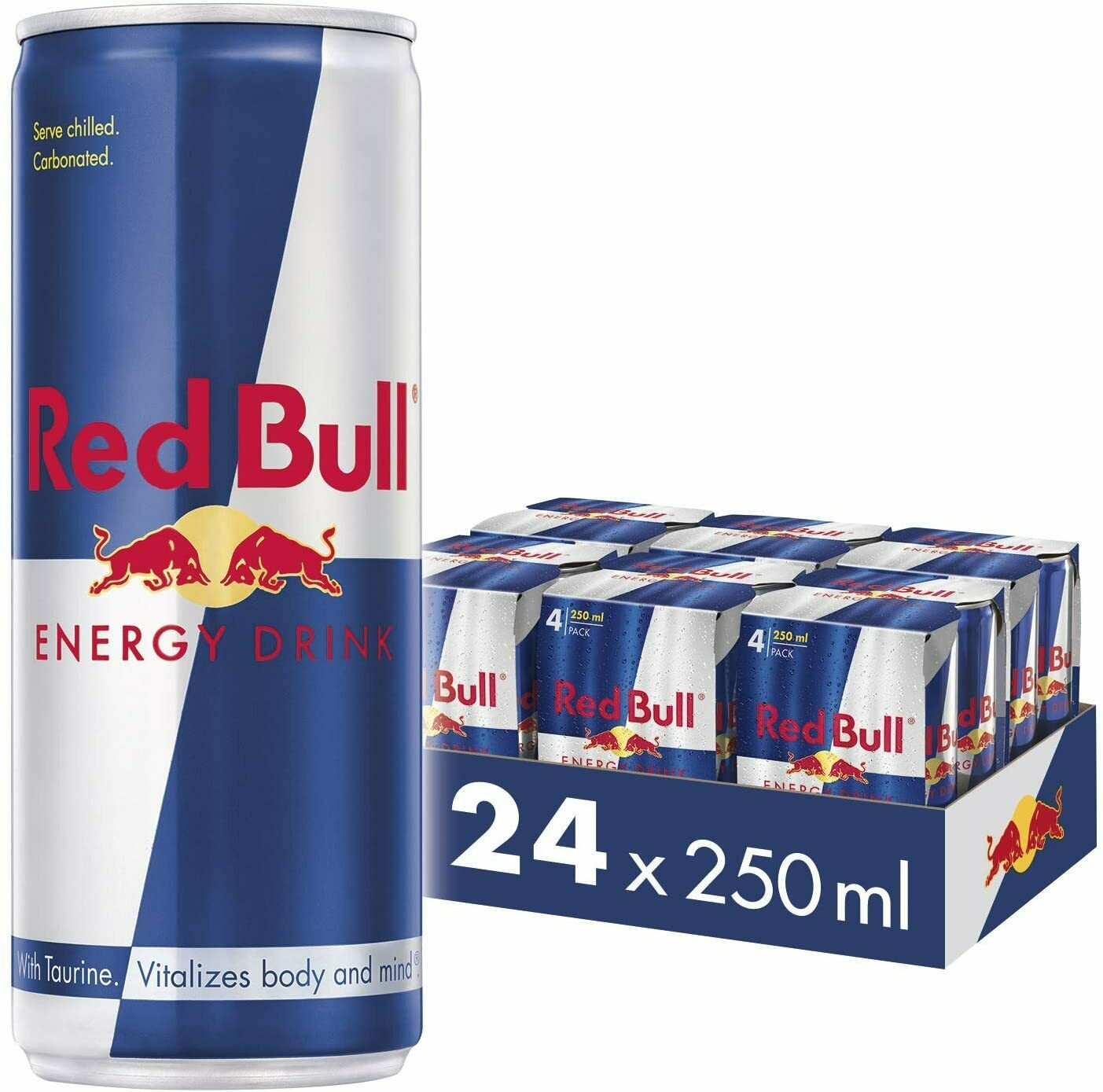 Red Bull Energy Drink, 8.4 Fl Oz / 250ml Can [CASE OF 24]