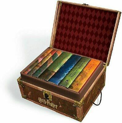 Harry Potter Collection 1 2 3 4 5 6 7 Hogwarts Trunk Book Set [Hardback]