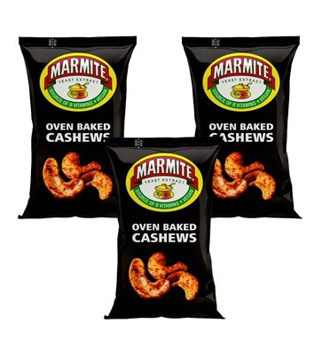 Marmite Oven Baked Cashew Nuts 90g Pack [3 BAGS]
