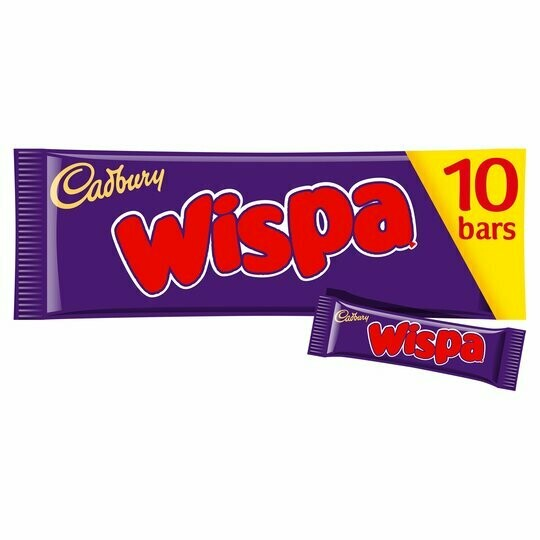 Cadbury Wispa 25.5g Chocolate Bar [10 BARS]