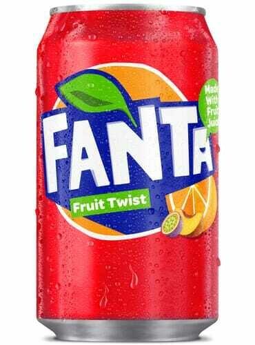 Fanta Fruit Twist 330ml Soft Drink Soda Can [CASE OF 24 CANS]