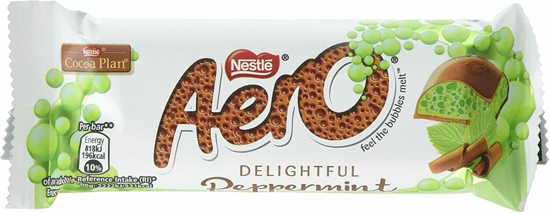 Nestle Aero Peppermint Chocolate Bar 36g [BOX OF 24]