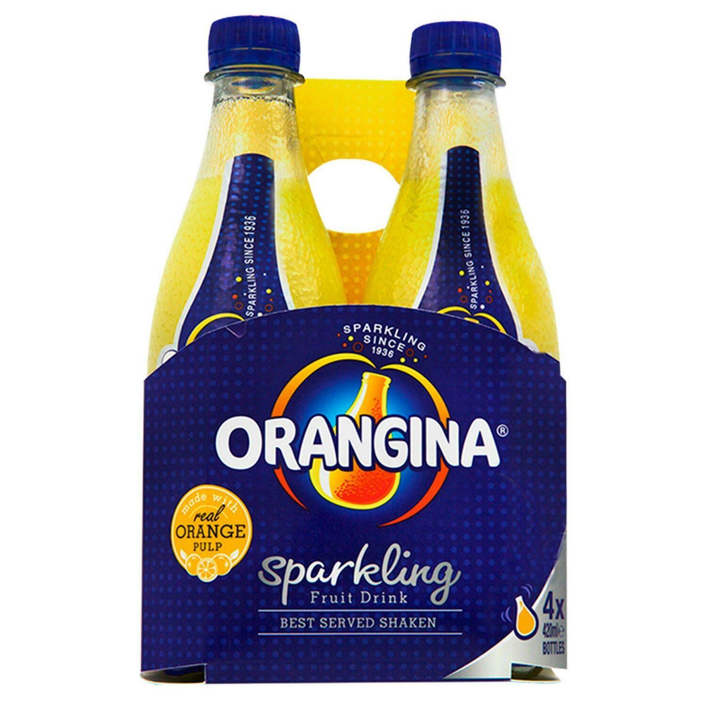 Orangina Original Orange 420ml Bottle [4 PACK]