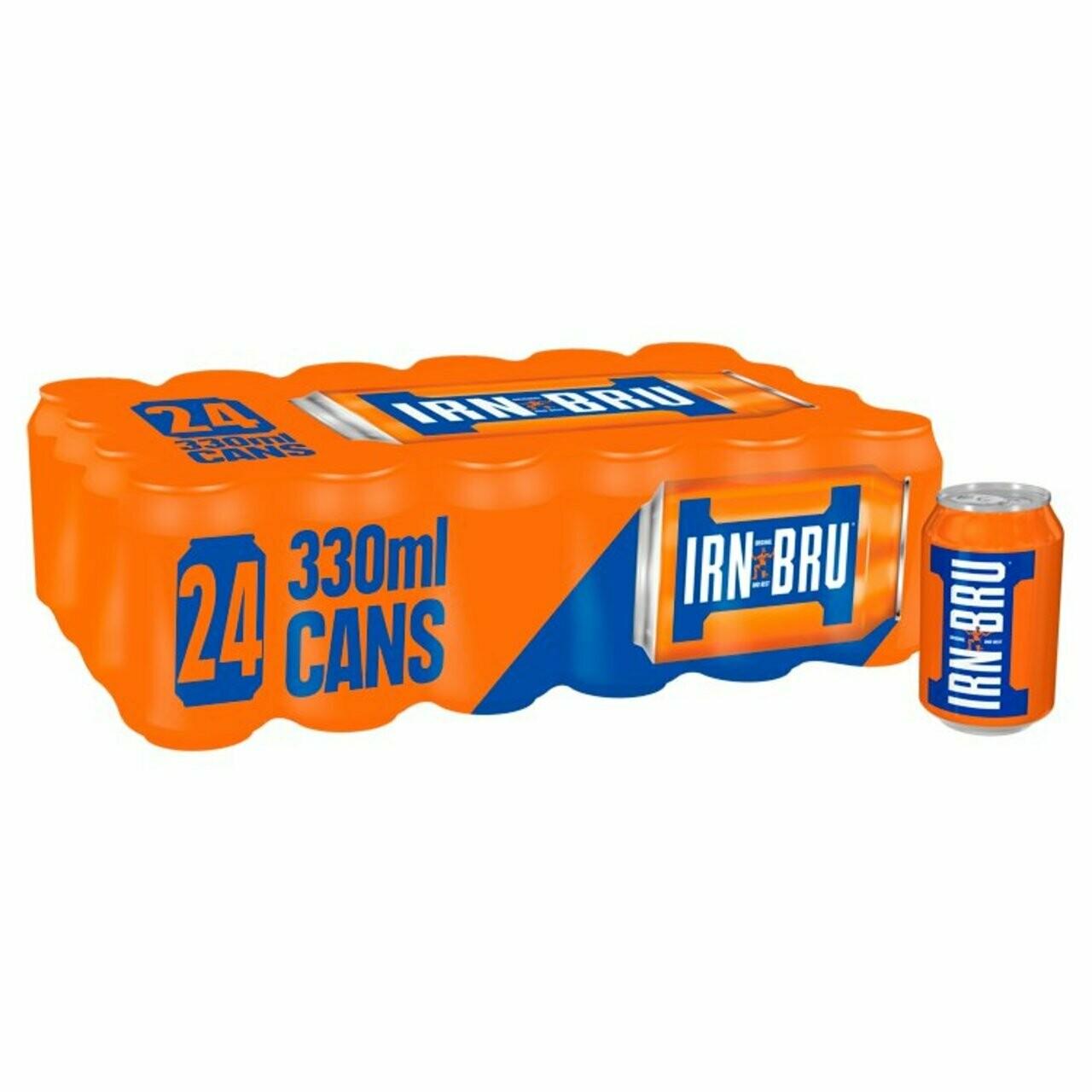 IRN-BRU Soda Drink 330ml Can [CASE OF 24]