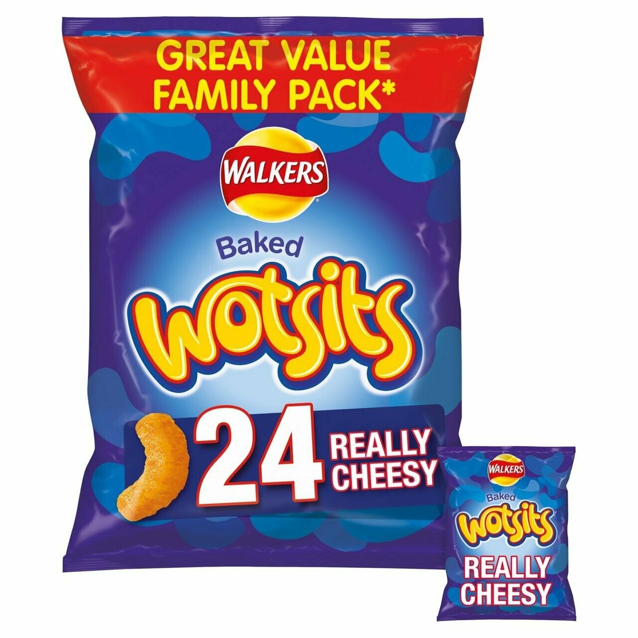Walkers Wotsits Really Cheesy Multipack Snacks 16.5g [24 PACK]