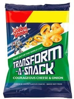 Golden Wonder Transform-A-Snack Courageous Cheese & Onion 30g Bag [24 PACK]