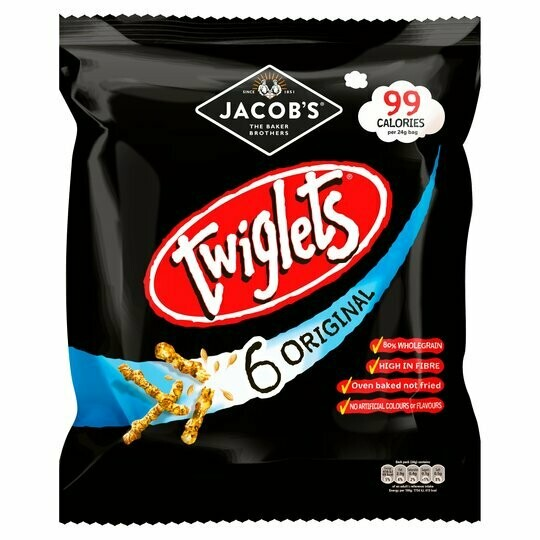Jacobs Twiglets Snacks 24g Packet [6 PACK]