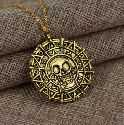 Pirates of the Caribbean Aztec Gold Medallion [Aged] Movie Prop Replica