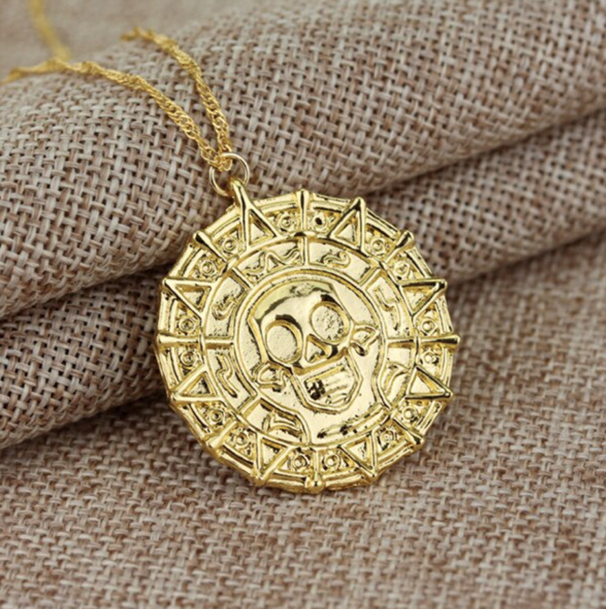 Pirates of the Caribbean Aztec Gold Medallion [Shiny] Movie Prop Replica
