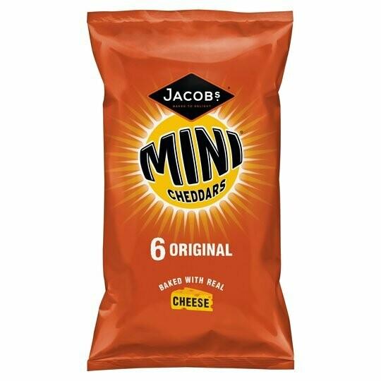 Jacobs Mini Cheddars Original 25g [6 PACK]