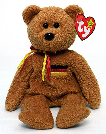 TY Beanie Babies Collection - Germania the Bear 1990 [Retired]