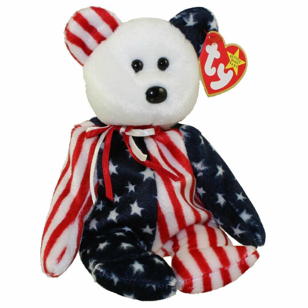 TY Beanie Babies Collection - Spangle the Bear 1999 [Retired] (White Face)
