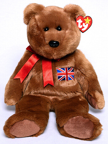 TY Beanie Babies Collection - Britannia the British Bear (Buddy) [Retired] Soft Plush Toy