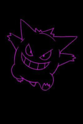 Poke Monster (Pokemon Gengar) Luxury Lined Notebook - Journal Diary Writing Paper Pad Movie Prop [Black/Purple]