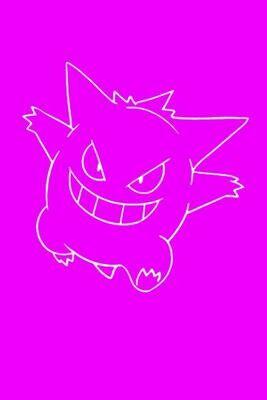 Poke Monster (Pokemon Gengar) Luxury Lined Notebook - Journal Diary Writing Paper Pad Movie Prop [Purple]