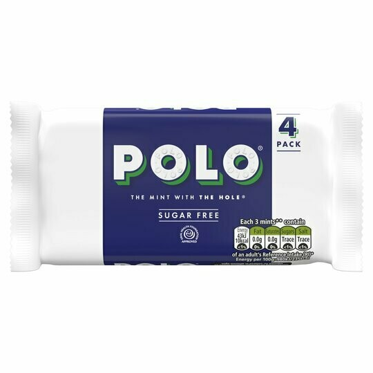 Polo Sugar Free Mints Roll 33.4g Roll [4 PACK]
