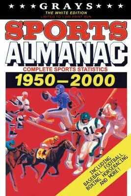 Grays Sports Almanac: Complete Sports Statistics 1950-2000 [The White Edition - LIMITED TO 1,000 PRINT RUN] Back to the Future Movie Prop Replica