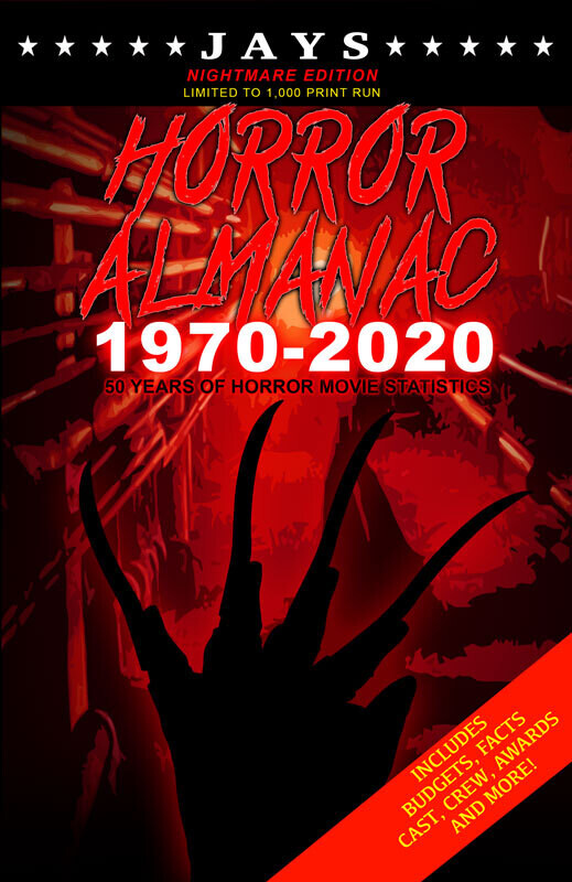 Jays Horror Almanac #2 [NIGHTMARE EDITION - LIMITED TO 1,000 PRINT RUN] 50 Years of Horror Movie Statistics Book