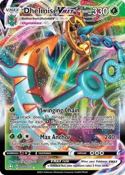 Pokemon Trading Card: Shining Fates - Dhelmise VMAX 010/072