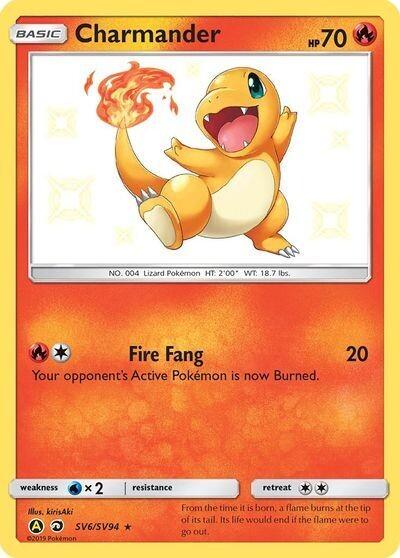 Pokemon Trading Card: Hidden Fates - Charmander SV6/SV94