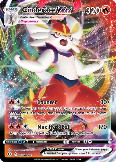 Pokemon Trading Card: Shining Fates - Cinderace VMAX 019/072