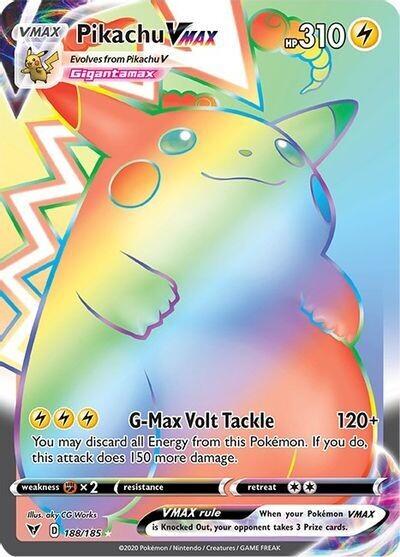 Pokemon Trading Card: Vivid Voltage - Pikachu VMAX 188/185
