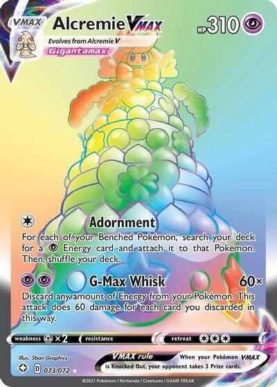 Pokemon Trading Card: Shining Fates- Alcremie VMAX 073/072