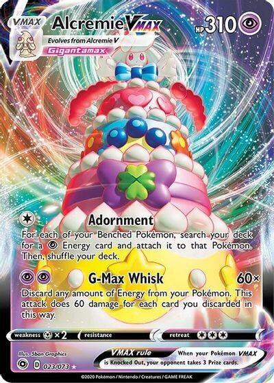 Pokemon Trading Card: Champion's Path - Alcremie VMAX 023/073