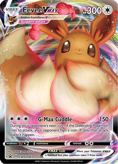 Pokemon Trading Card: Shining Fates - Eevee VMAX SWSH087 [Unsealed]