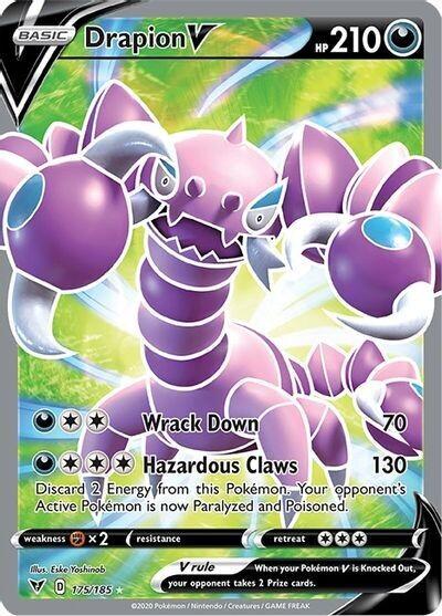 Pokemon Trading Card: Vivid Voltage - Drapion V 175/185