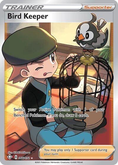 Pokemon Trading Card: Shining Fates - Bird Keeper 066/072