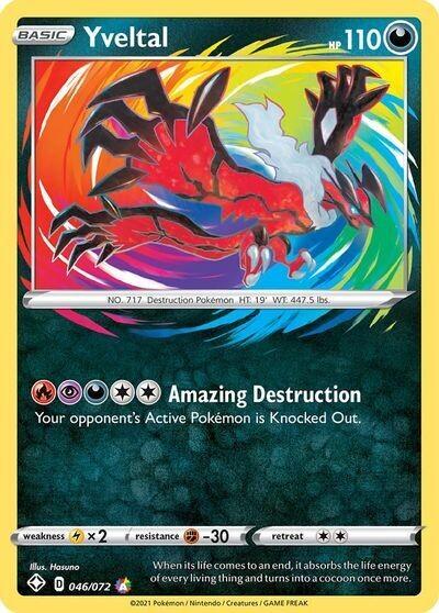 Pokemon Trading Card: Shining Fates - Yveltal 046/072