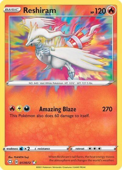Pokemon Trading Card: Shining Fates - Reshiram 017/072