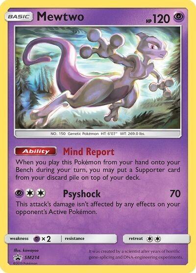 Pokemon Trading Card: Sun & Moon [Promo] - Mewtwo SM214