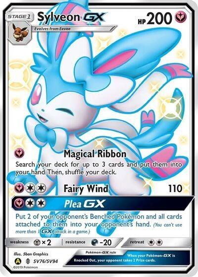 Pokemon Trading Card: Hidden Fates - Sylveon GX SV76/SV94