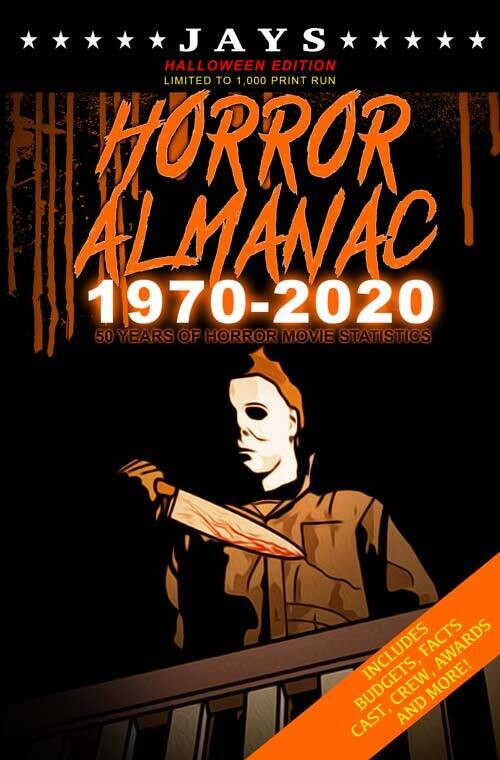 Jays Horror Almanac #3 [HALLOWEEN EDITION - LIMITED TO 1,000 PRINT RUN] 50 Years of Horror Movie Statistics