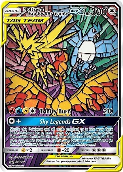 Pokemon Trading Card: Sun & Moon [Promo] - Moltres & Zapdos & Articuno GX SM210