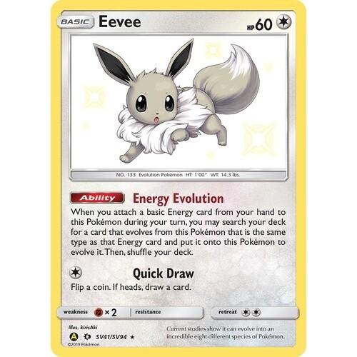 Pokemon Trading Card: Hidden Fates - Eevee SV41/SV94