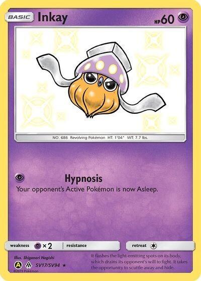 Pokemon Trading Card: Hidden Fates - Inkay SV17/SV94