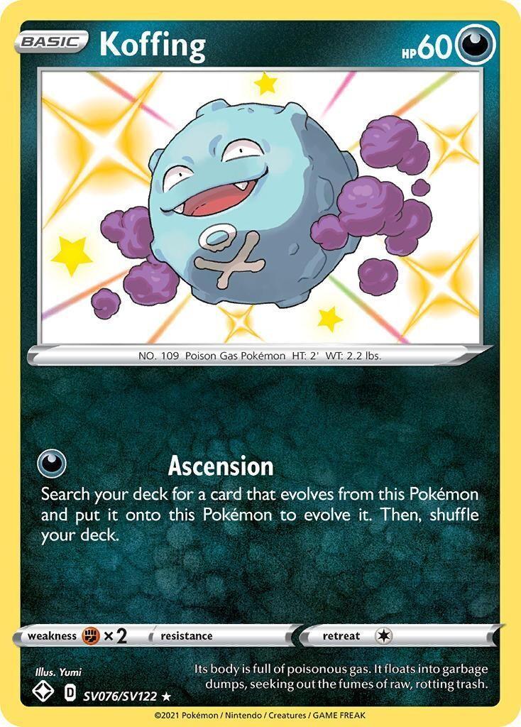 Pokemon Trading Card: Shining Fates - Koffing SV076/SV122