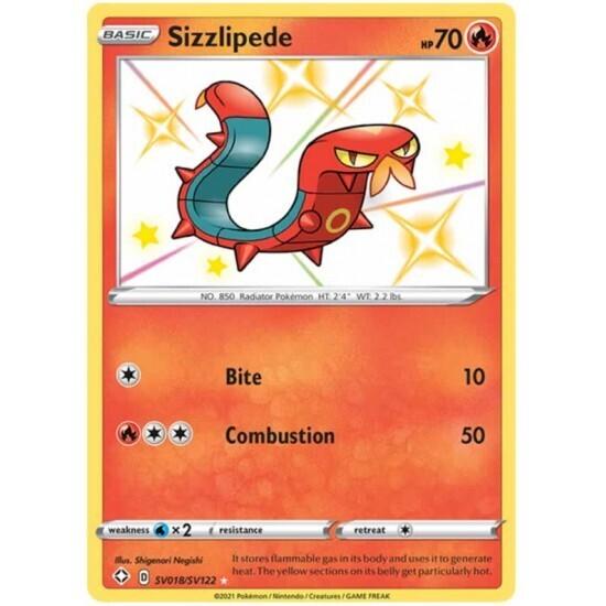 Pokemon Trading Card: Shining Fates - Sizzlipede SV018/SV122