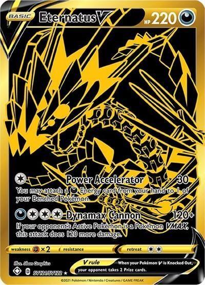 Pokemon Trading Card: Shining Fates - Eternatus V SV121/SV122