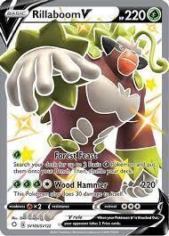 Pokemon Trading Card: Shining Fates - Rillaboom V SV105/SV122
