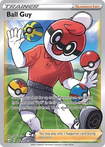 Pokemon Trading Card: Shining Fates - Ball Guy 065/072