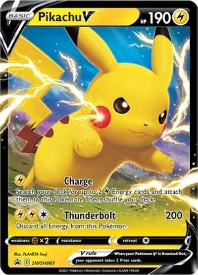 Pokemon Trading Card: Sword & Shield [Promo] - Pikachu V SWSH061